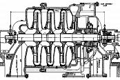 Longitudinal section of 540-41-1 compressor