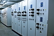 Cabinets of power protection and automatics in a container unit