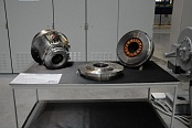 Assembly of el. drives and magnetic bearings