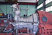 The K-25-3,0 steam turbine on the test bed of